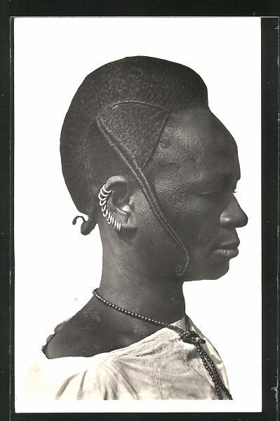 AK Hte-Volta, Femme Foulah, afrikanische Frau mit aufweniger Frisur
