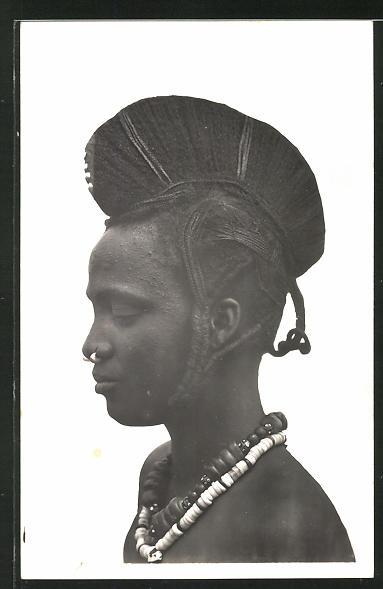 AK Hte-Volta, Femme Foulah, afrikanische Frau mit aufwendiger Frisur