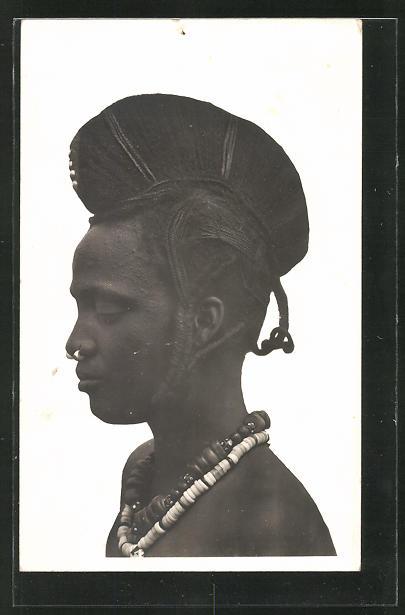 AK Hte-Volta, Femme Foulah, afrikanische Frau mit Flechtfrisur