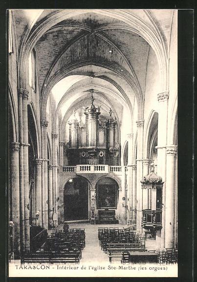 AK Tarascon, Intèrieur de l' eglise St. Marthe, Orgel 0