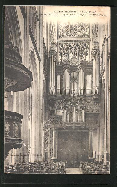 AK Rouen, Eglise Saint Maclou - buffet d`Orgues, Orgel 0