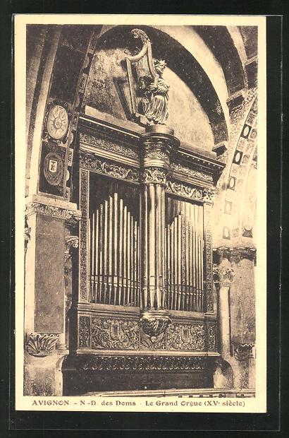 AK Avignon - N.-D. des Doms, Le Grand Orgue, Orgel