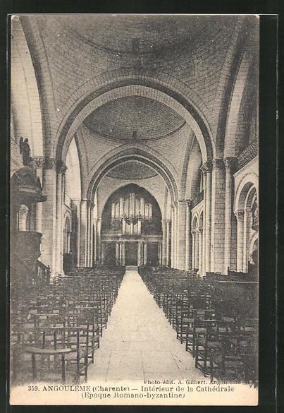 AK Angouleme, Intèrieur de la Cathèdrale, Orgel 0
