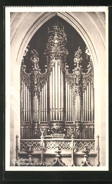 AK Bern, Münster, die Orgel 0
