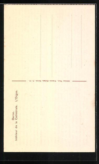 AK Bern, Münster, die Orgel 1