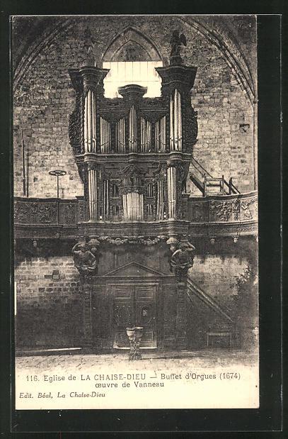 AK Eglise de La Chaise-Dieu - Buffet d' Orgues, Orgel 0