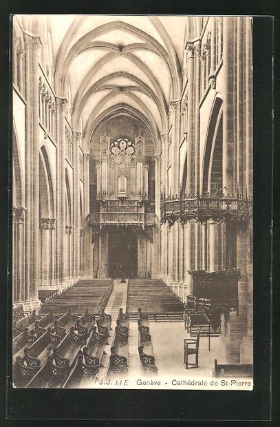 AK Genève, Cathèdrale de St. Pierre, Orgel 0