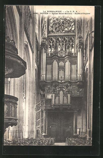 AK Rouen, Eglise Saint Maclou - Buffet d' Orgues, Orgel