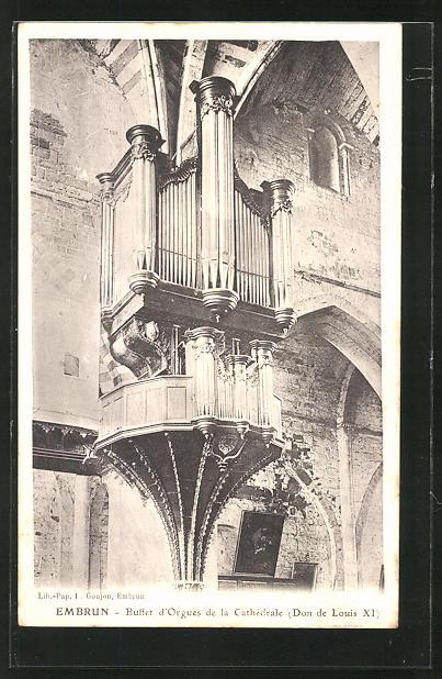 AK Embrun, Buffet d' Orgues de la Cathèdrale, Orgel 0