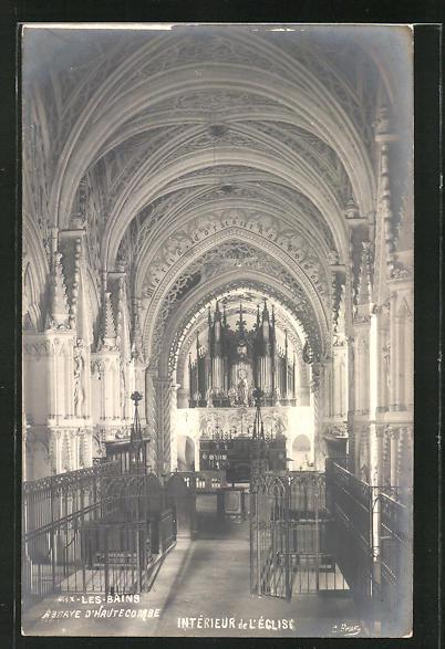AK Aix-les-Bains, Intèrieur de L' Eglise, Orgel 0