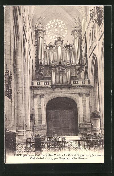 AK Auch, Cathèdrale St. Marie -Le Grand Orgue, Orgel 0