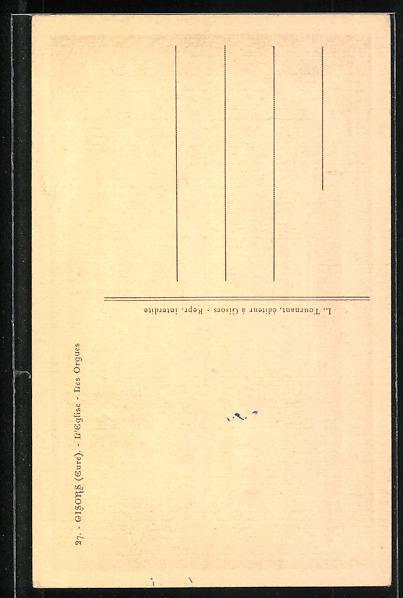 AK Gisors, L' Eglise-Les Orgues, Orgel 1