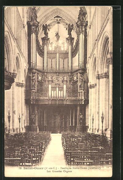 AK Saint Omer, Basilique Notre-Dame - Les Grandes Orgues, Orgel 0