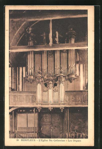 AK Honfleur, L' Eglise Ste Catherine - Les Orgues, Orgel 0