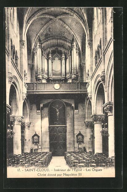 AK Saint Cloud, Intèrieur de Eglise -Les Orgues, Orgel