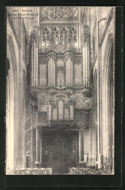 AK Rouen, Eglise Saint-Maclou - Buffet d' Orgue, Orgel