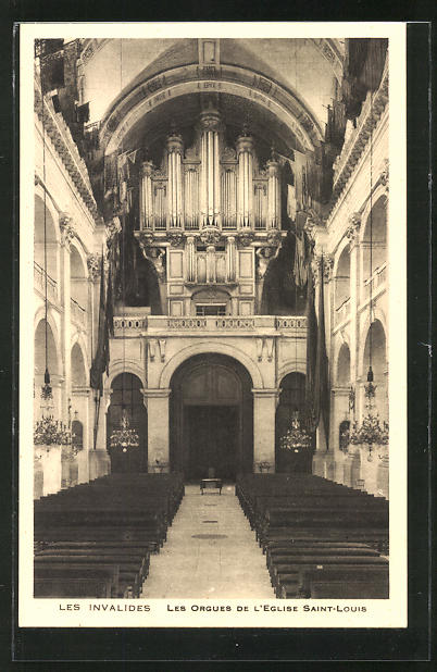 AK Les Invalides - Les Orgues de L' Eglise Saint Louis, Orgel
