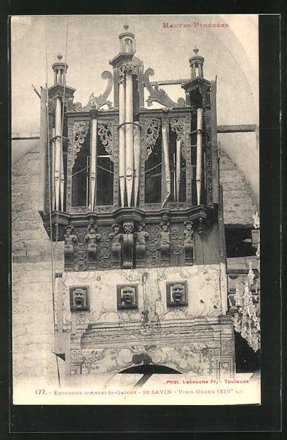AK Environs D' Argelès de Gazost - St.Savin, Vieil Orgue, Orgel 0