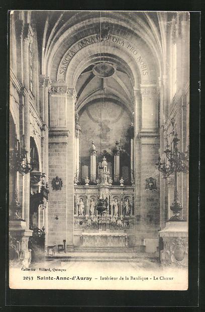 AK Sainte-Anne-D' Auray - Intèrieur de la Basilique, Orgel