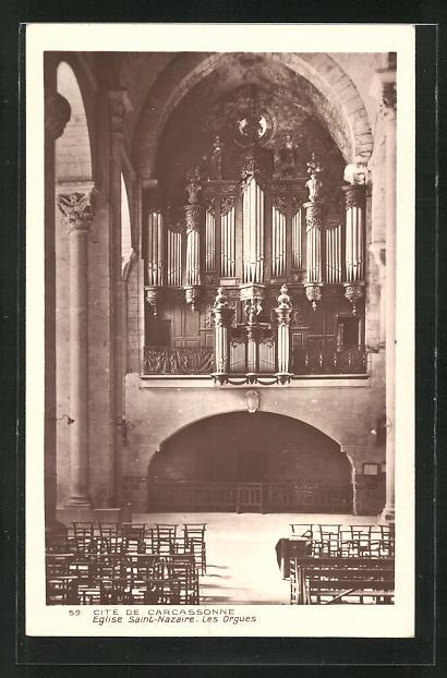 AK Eglise Saint Nazaire, Les Orgues, Orgel