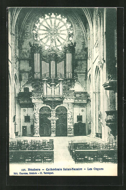 AK Bèziers, Cathèdrale Saint Nazaire - Les Orgues, Orgel 0