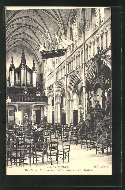 AK Saint-Brieuc, Basilique Nortre-Dame d'Esperance, les Orgues 0