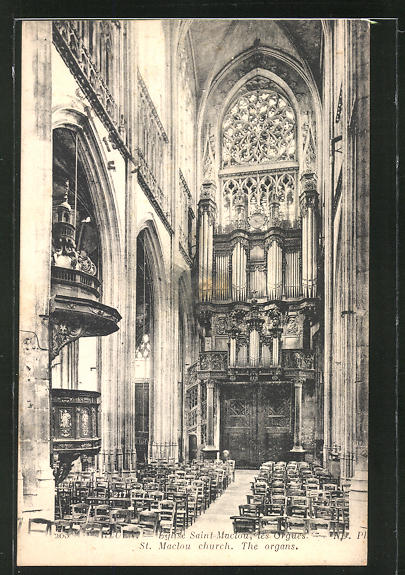 AK Rouen, Eglise Saint-Maclou, les Orgues, St. Maclour church, The organs 0