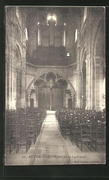AK Autun, Les Orgues de la Cathedrale 0