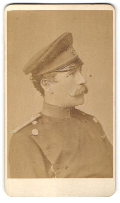Fotografie Teich Hanfstaengl. Dresden, Portrait Offizier in Uniform 0