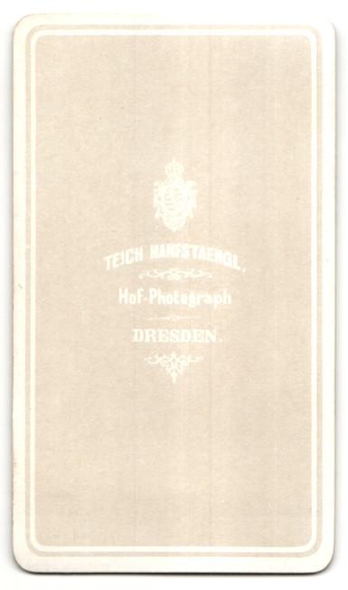 Fotografie Teich Hanfstaengl. Dresden, Portrait Offizier in Uniform 1