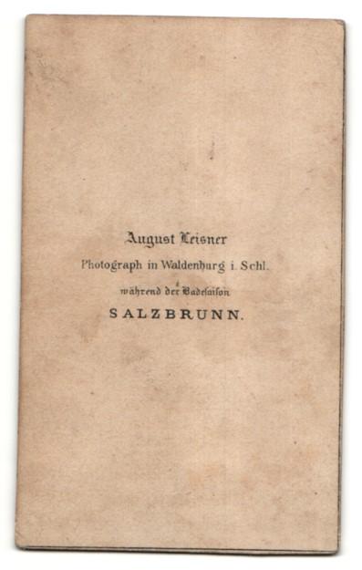 Fotografie August Leisner, Salzbrunn, Portrait Dame in feierlicher Kleidung 1