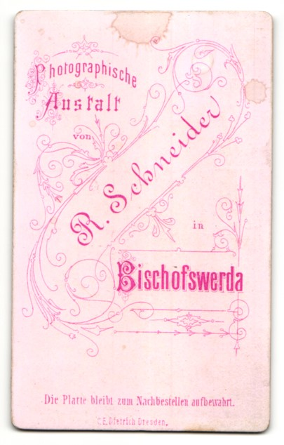 Fotografie R. Schneider, Bischofswerda, Portrait hübscher Knabe im eleganten Mantel 1
