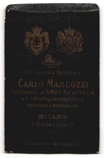 Fotografie Carlo Marcozzi, Milano, Portrait blondes Fräulein mit hochgestecktem Haar in bestickter Bluse 1