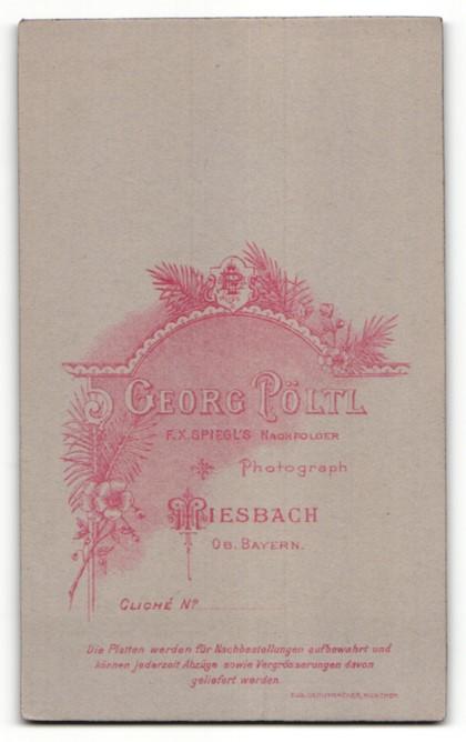 Fotografie Georg Pöltl, Miesbach i. Ober-Bayern, Portrait Bub in Anzug 1