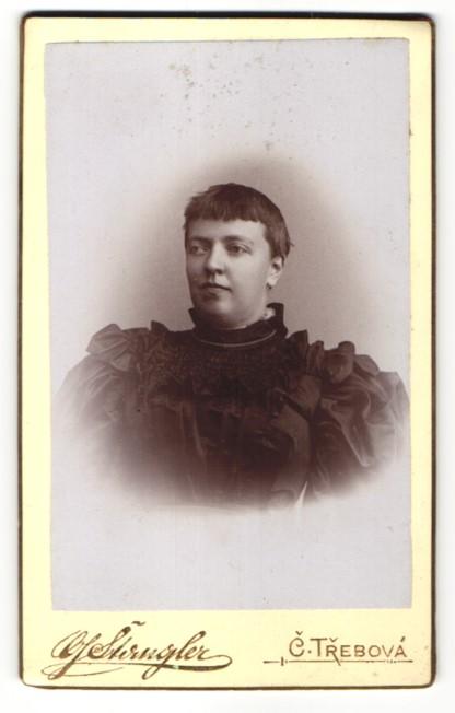 Fotografie G. Stangler, C. Trebová, Portrait Dame mit zeitgenöss. Frisur 0