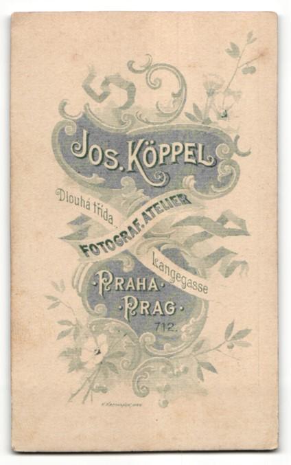 Fotografie Josef Köppel, Praha, Portrait junge Frau mit zusammengebundenem Haar 1
