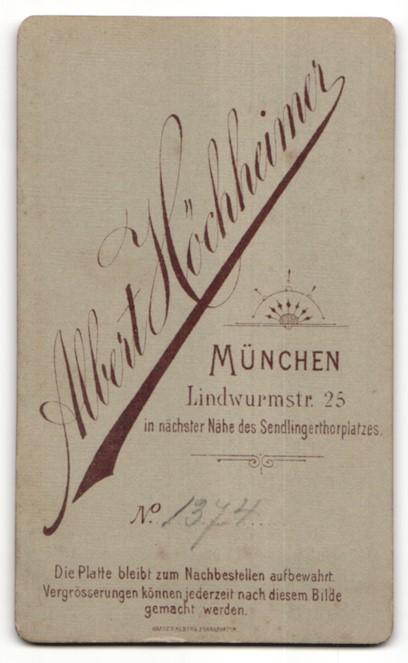 Fotografie Albert Höchheimer, München, Portrait junge Frau mit zusammengebundenem Haar 1