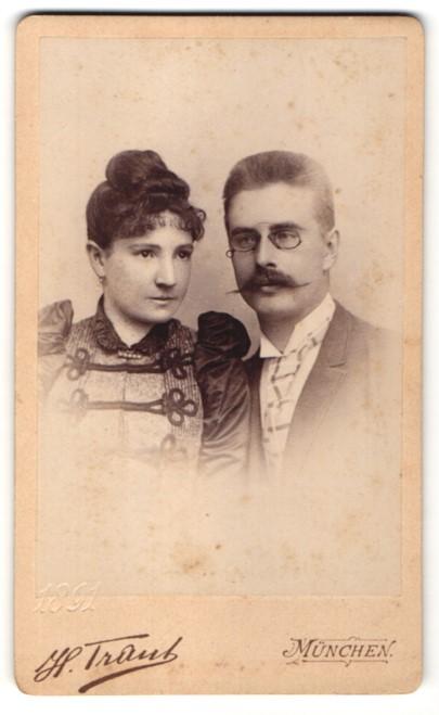 Fotografie H. Traut, München, Portrait junges bürgerliches Paar 0