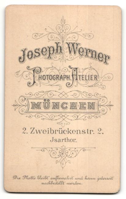 Fotografie Joseph Werner, München, Portrait Braut und Bräutigam 1