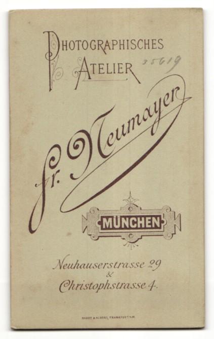 Fotografie Fr. Neumayer, München, Portrait Bruder und Schwester 1