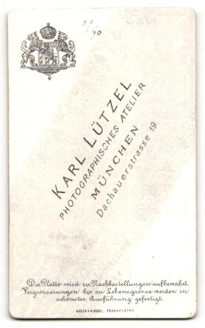Fotografie Karl Lützel, München, Portrait junge Frau mit Haarknoten 1