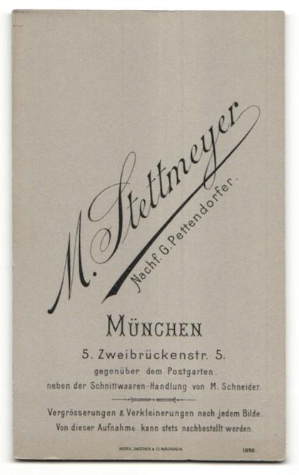 Fotografie M. Stettmeyer, München, Portrait junge Frau mit zusammengebundenem Haar 1