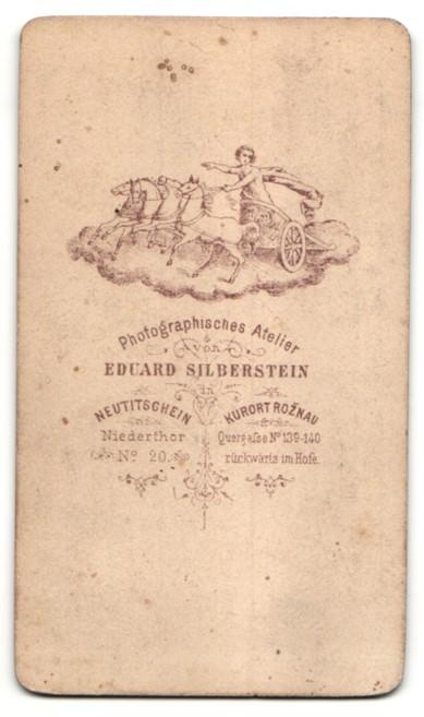 Fotografie Eduard Solberstein, Neutitschein & Roznau, Portrait Frau mit zeitgenöss. Frisur 1