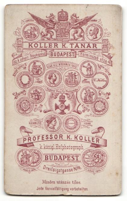 Fotografie Koller K. Tanar, Budapest, Portrait Fräulein mit zeitgenöss. Frisur 1