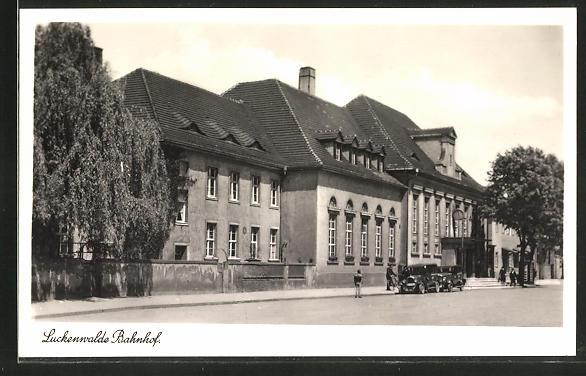 AK Luckenwalde, Partie am Bahnhof 0