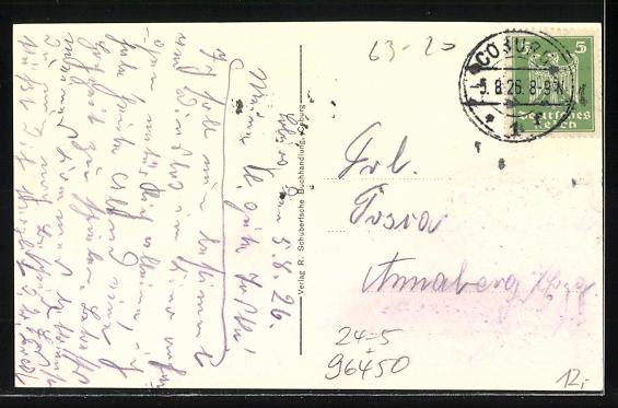 AK Coburg, Partie am Bahnhof, Hochwasser am 5.-6. Juli 1926 1