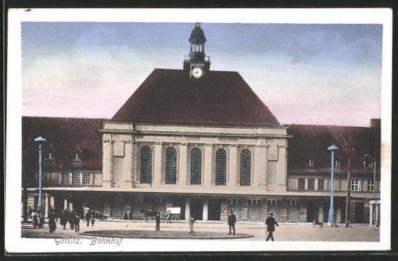 AK Görlitz, Ansicht vom Bahnhof 0
