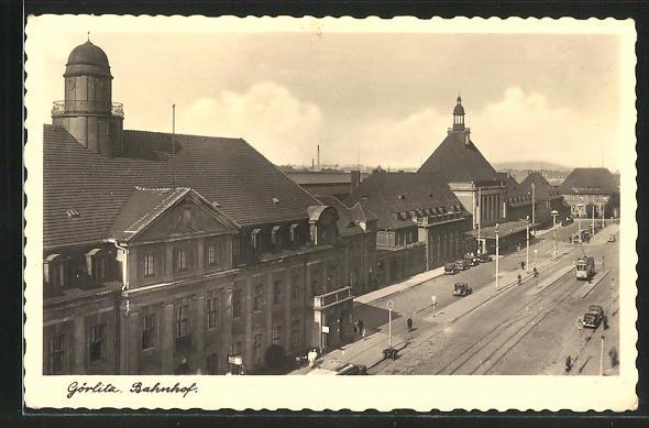 AK Görlitz, Blick auf den Bahnhof 0
