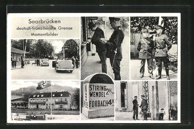 AK Saarbrücken, Momentbilder von der deutsch-französischen Grenze 0