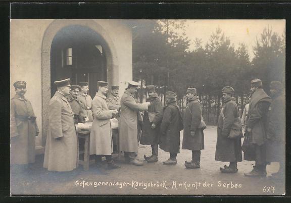 AK Königsbrück, Kriegsgefangenenlager, Ankunft der Serben 0